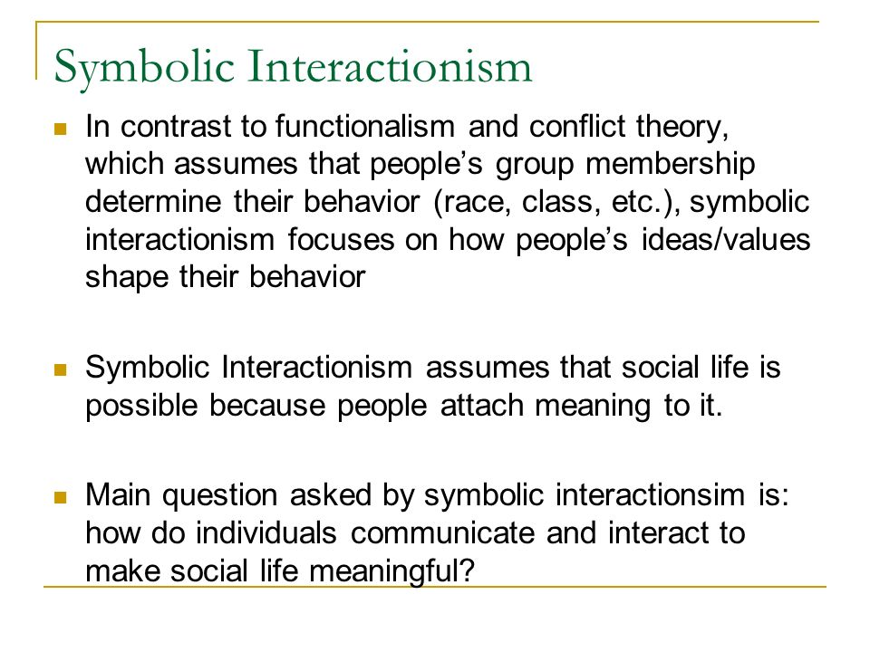 functionalism and conflict theory