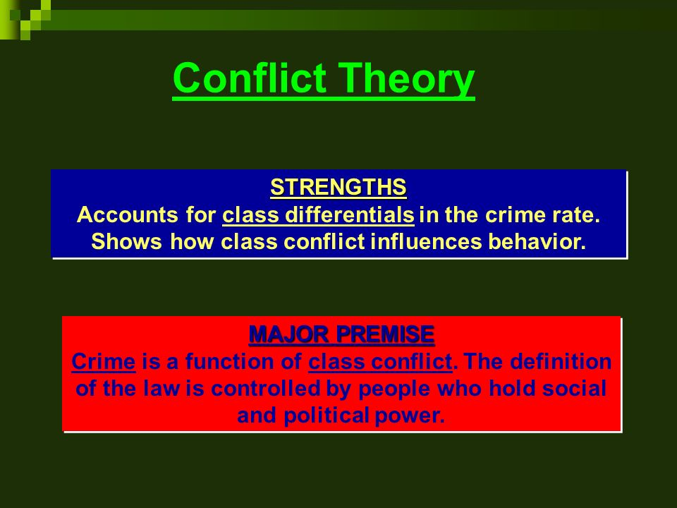 what is social conflict theory