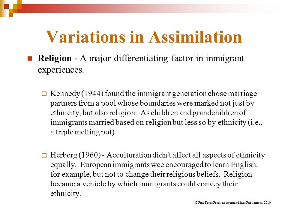 Chapter Two Assimilation And Pluralism From Immigrants To White