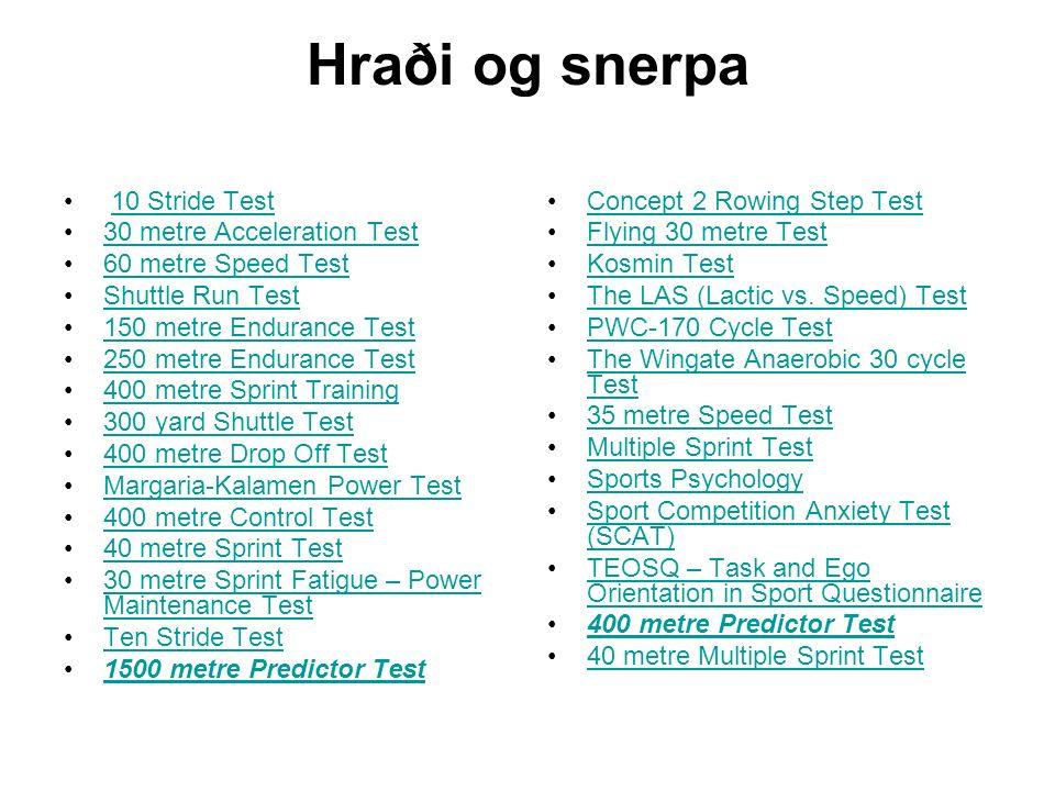 Líkamleg próf Þol Styrkur Liðleiki  - ppt video online download