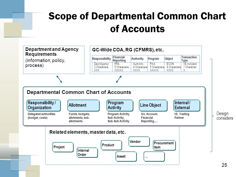 Scope of Departmental Common Chart of Accounts
