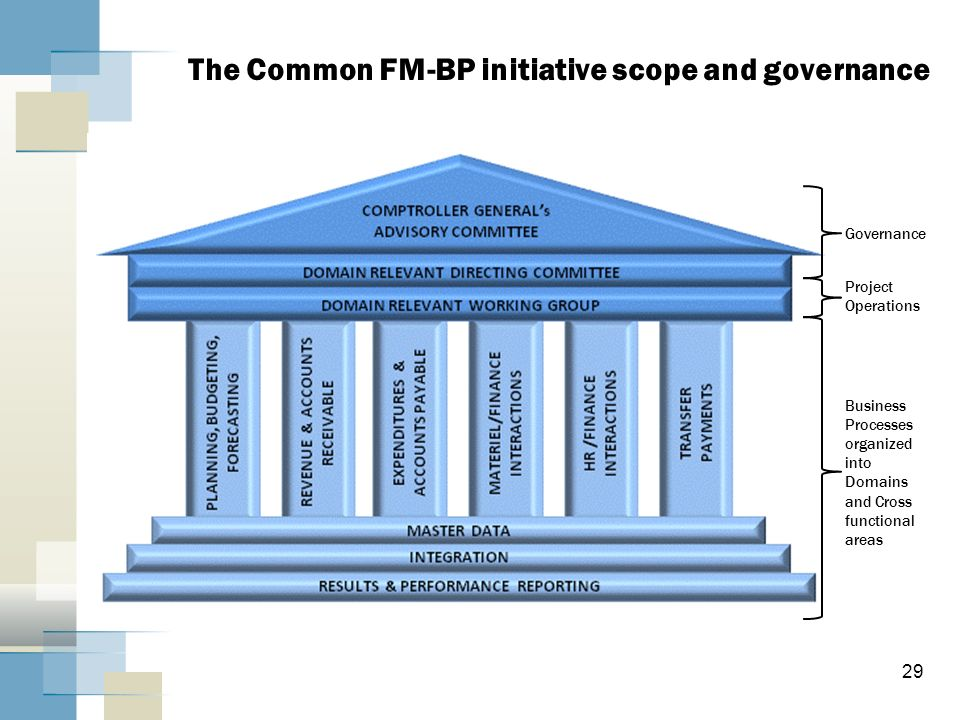 The Common FM-BP initiative scope and governance