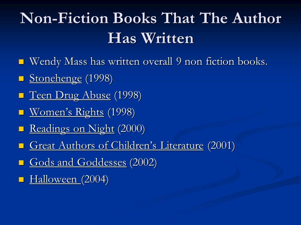Non-Fiction Books That The Author Has Written