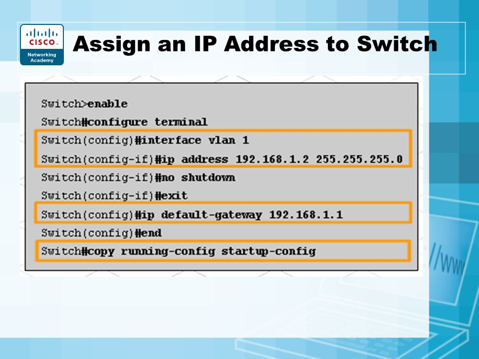 how to find an ip address of a network switch
