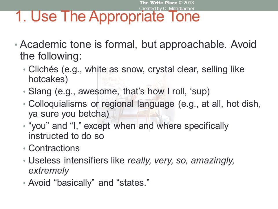 what to avoid in academic writing