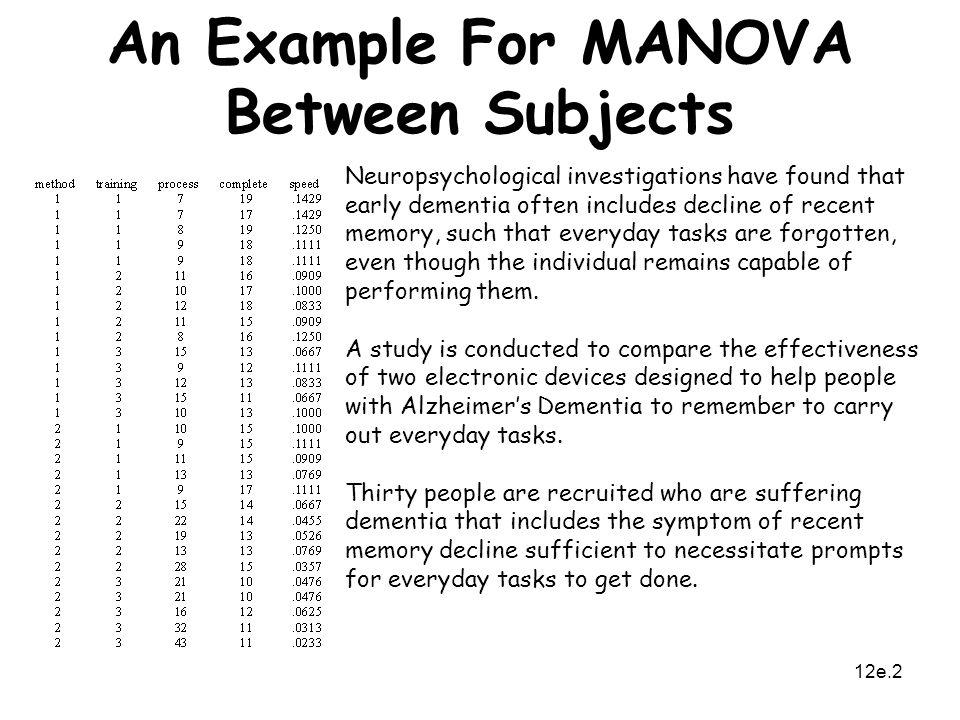 MANOVA Between Subjects - ppt video online download