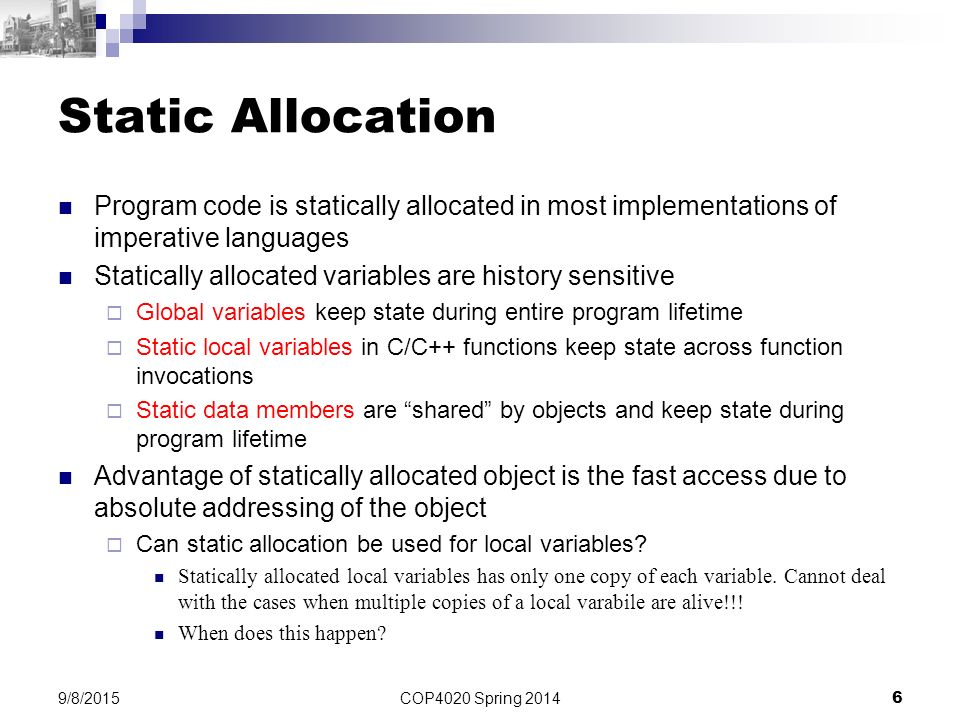COP4020 Programming Languages - ppt video online download