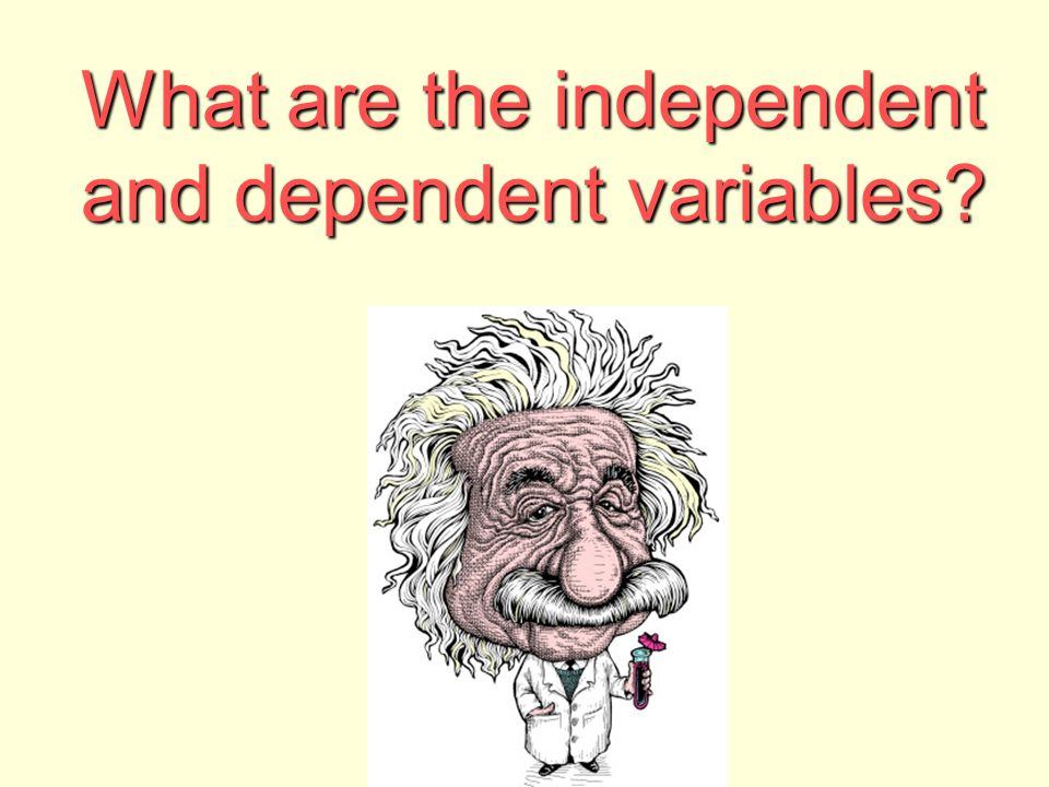 What are the independent and dependent variables