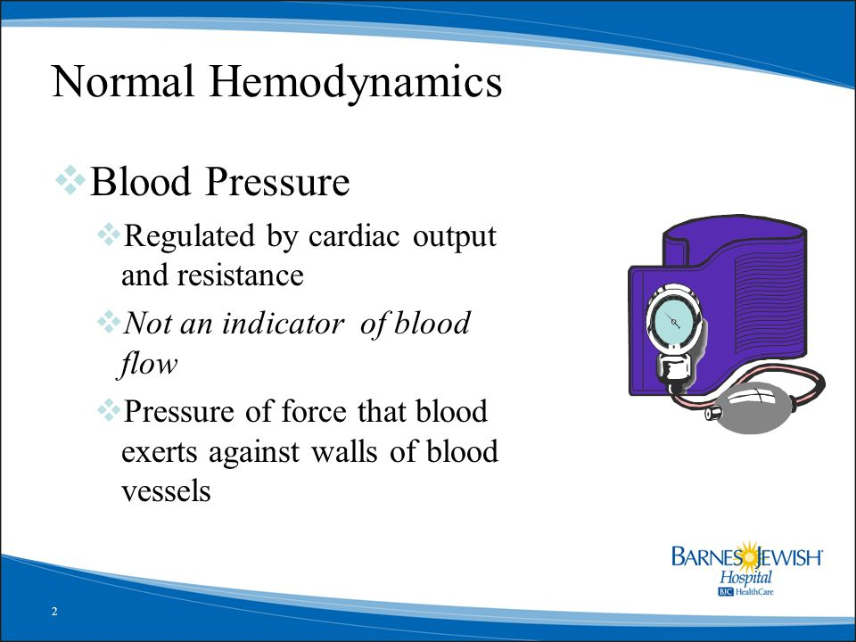 Normal Hemodynamics Blood Pressure