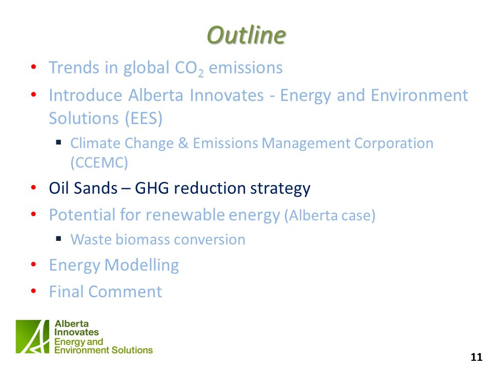 Outline Trends in global CO2 emissions