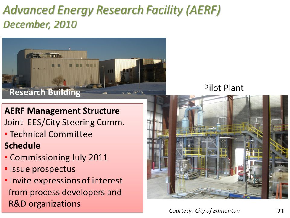 Advanced Energy Research Facility (AERF) December, 2010