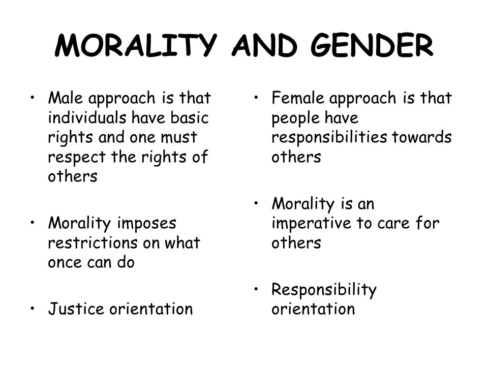4 morality