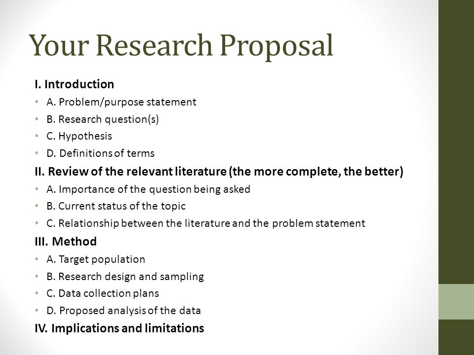 hypothesis writing in research proposal