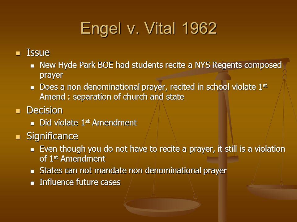 engel v vitale significance