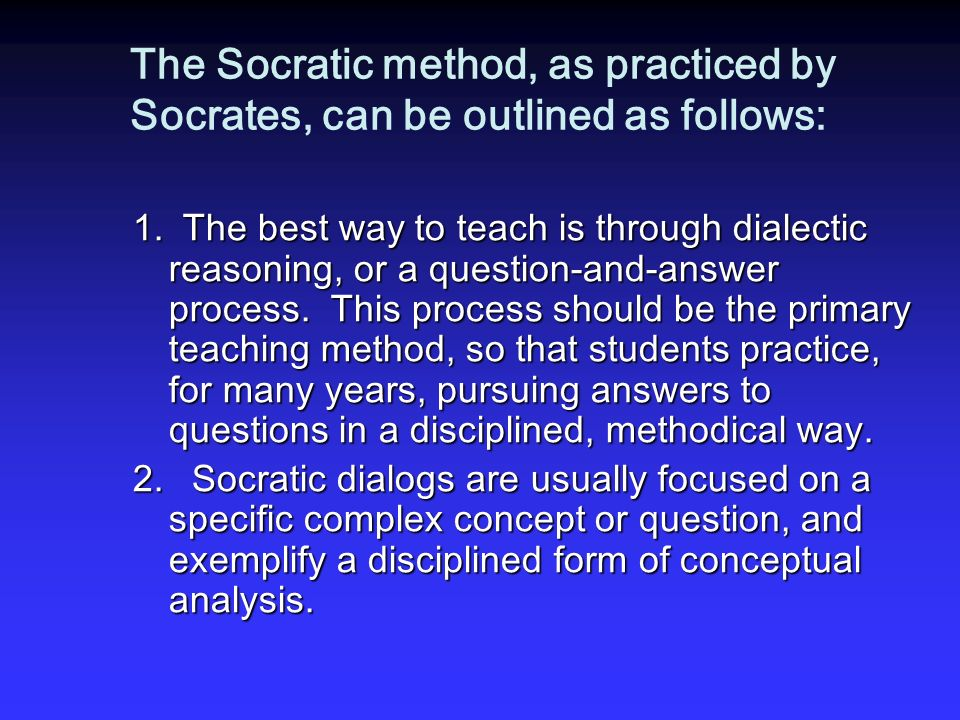 socratic method of teaching examples