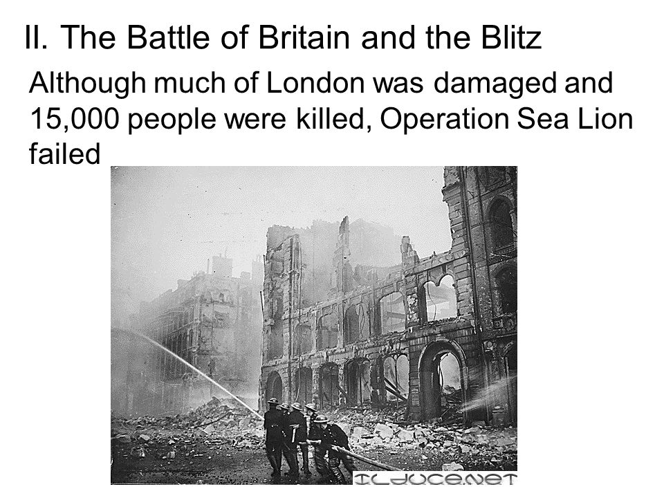 II. The Battle of Britain and the Blitz