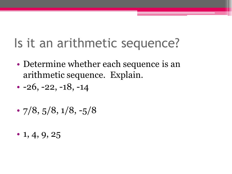Section 3.5 Arithmetic Sequences and Linear Functions - ppt download