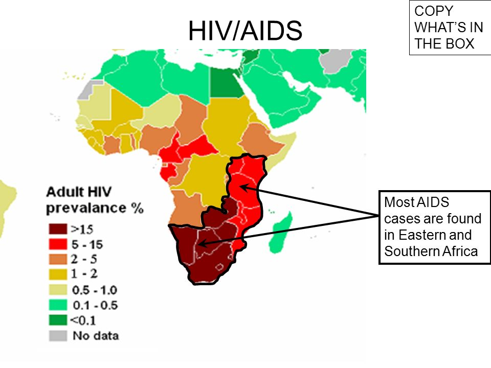 Aids Map Of Africa.Swbat Identify Causes Of The Aids Pandemic In Africa Ppt Download