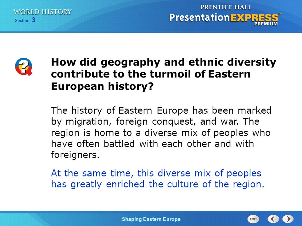 How did geography and ethnic diversity contribute to the turmoil of Eastern European history
