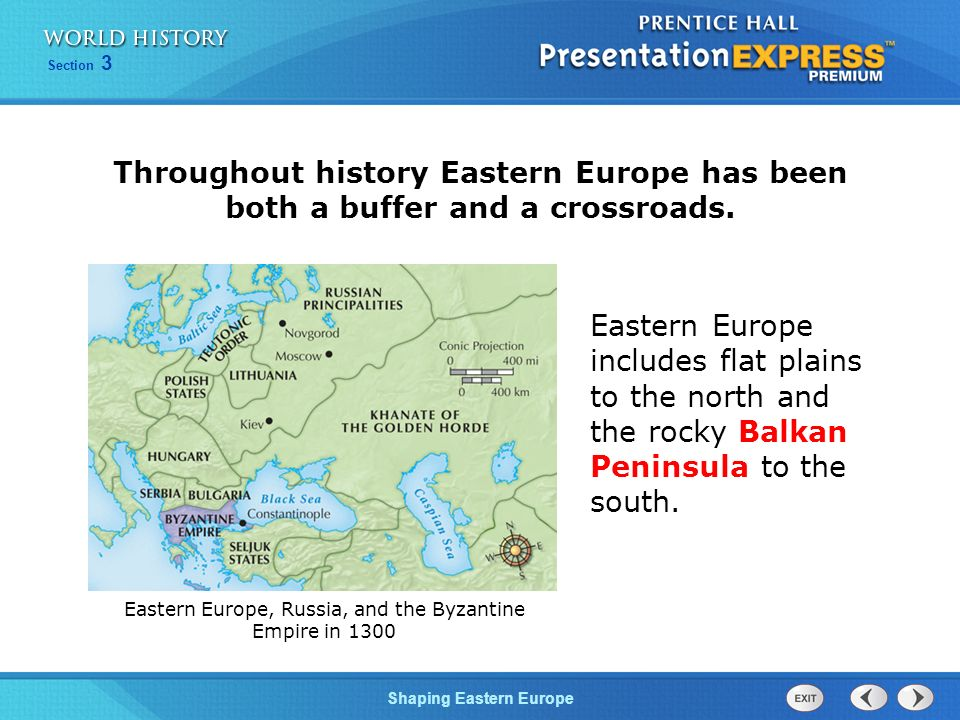 Eastern Europe, Russia, and the Byzantine Empire in 1300