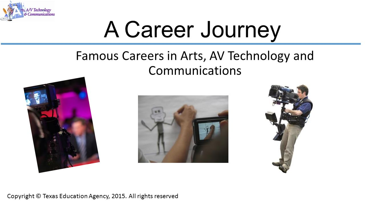famous careers in arts av technology and communications ppt download