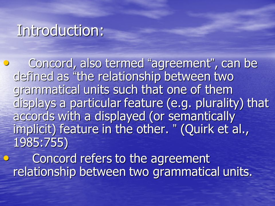 Subject Verb Concord Ppt Download