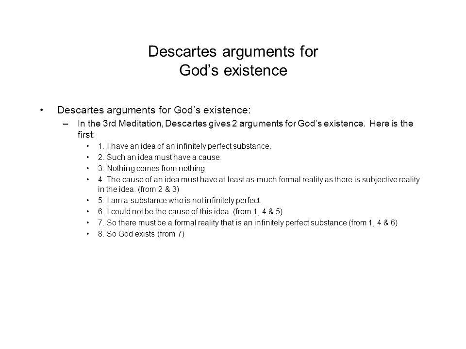 descartes argument for the existence of god