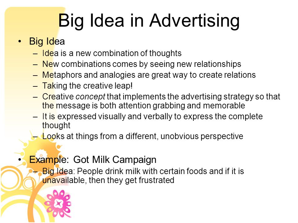 Big Idea In Advertising