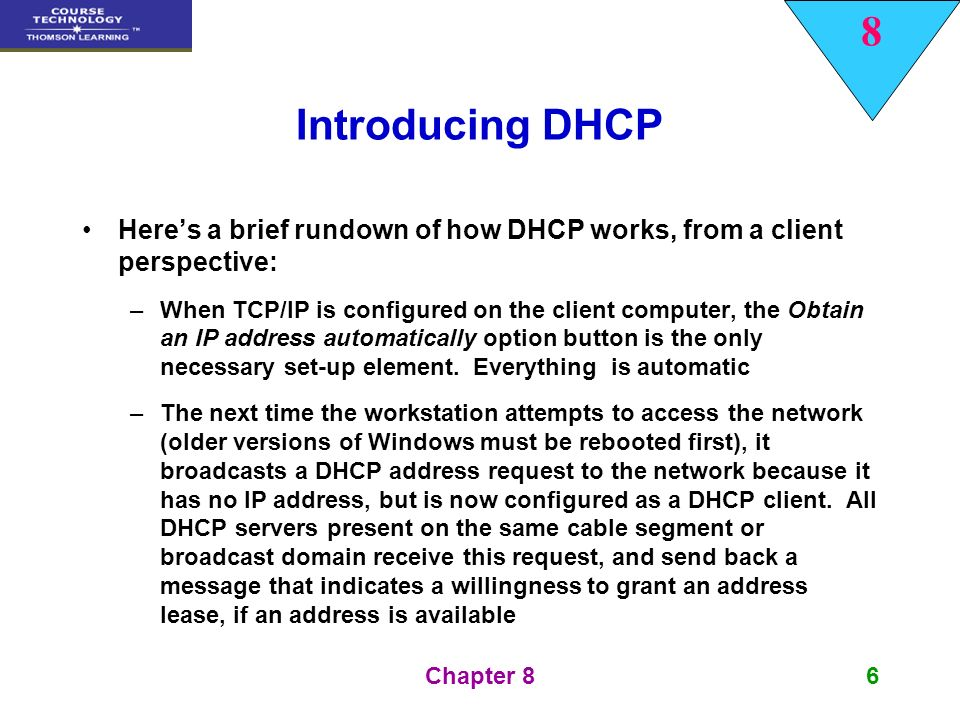 The Dynamic Host Configuration Protocol (DHCP) - ppt video