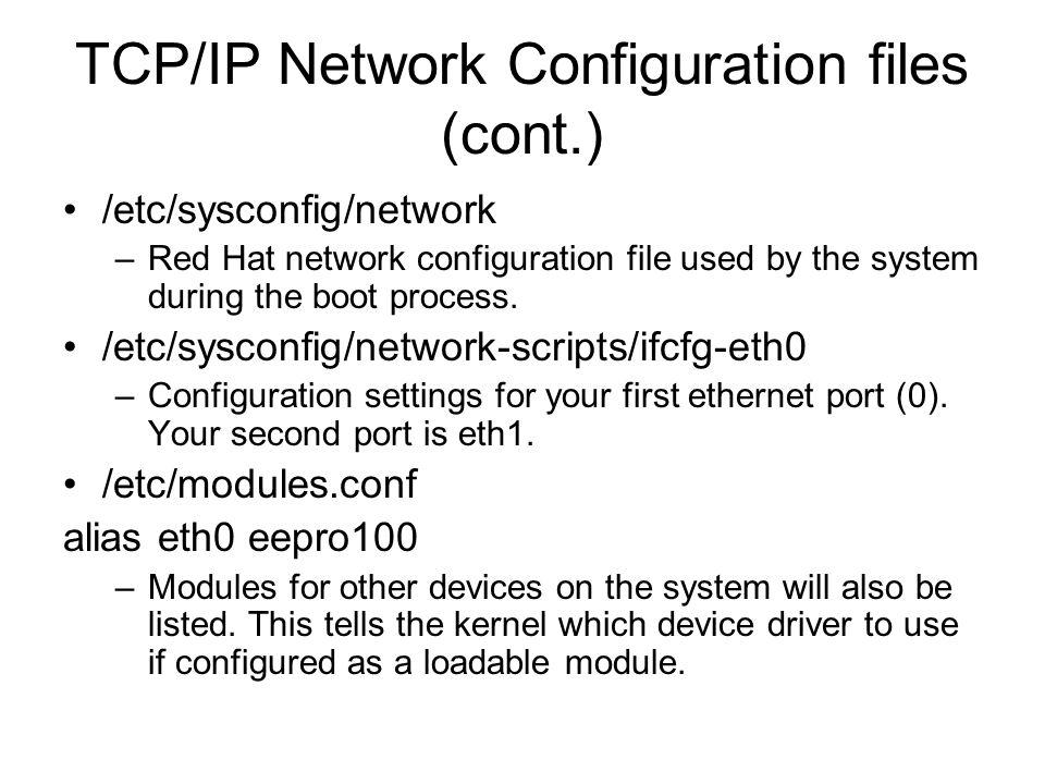 Linux Network Setup  - ppt download