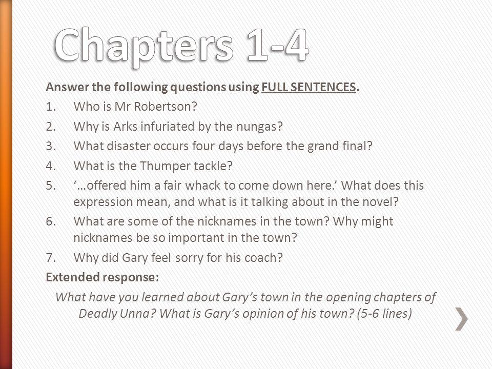 deadly unna chapter summaries