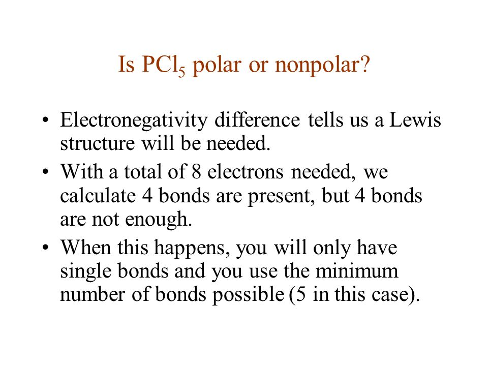 Pcl5 Lewis Structure Polar Or Nonpolar