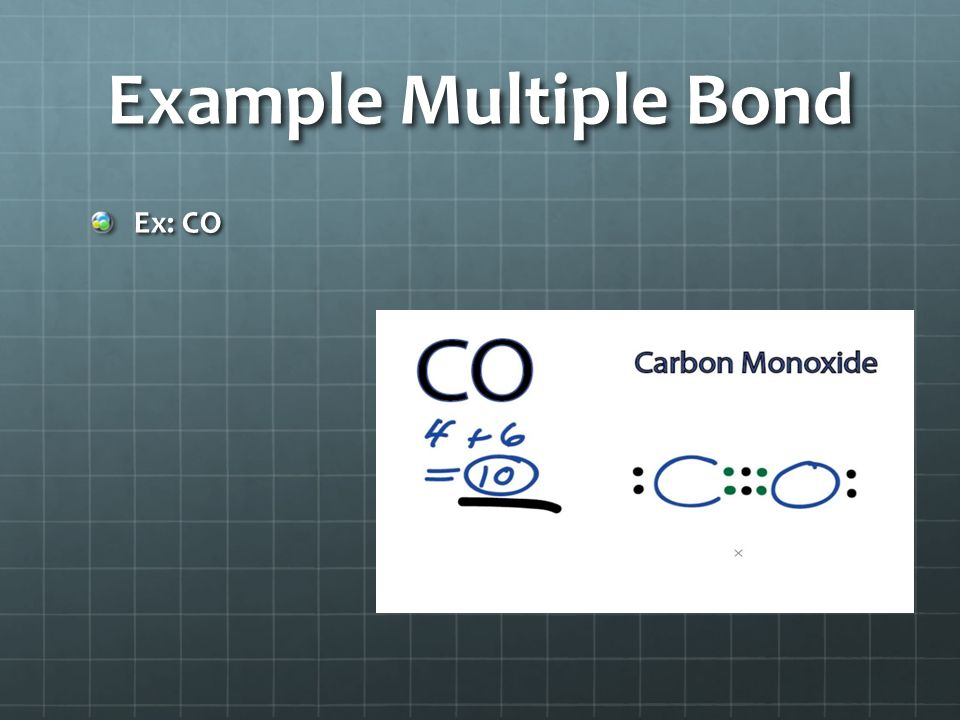Example Multiple Bond Ex: CO