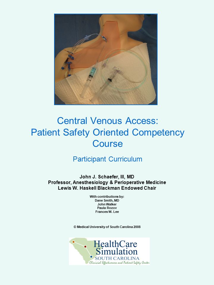 Central Venous Access: Patient Safety Oriented Competency Course ...
