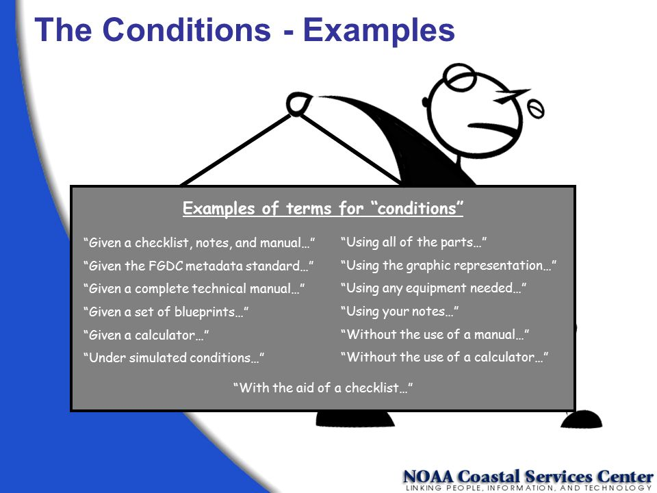 Examples of terms for conditions