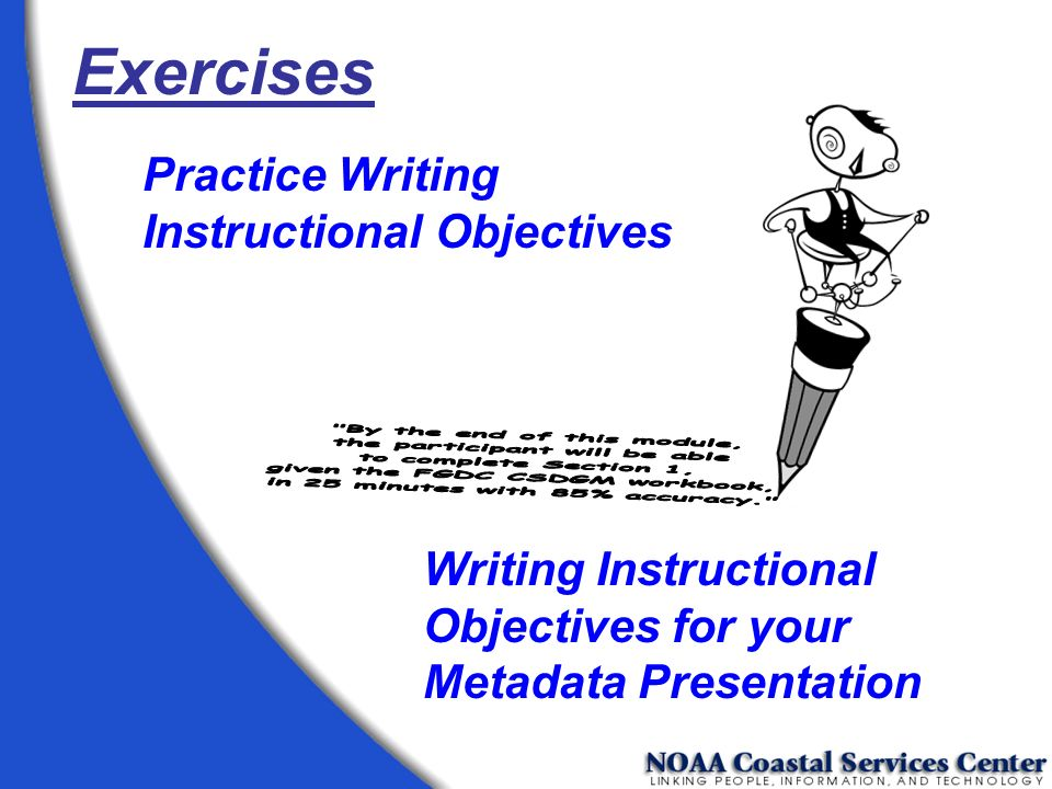 Exercises Practice Writing Instructional Objectives