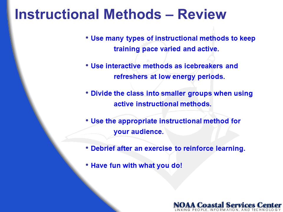 Instructional Methods – Review