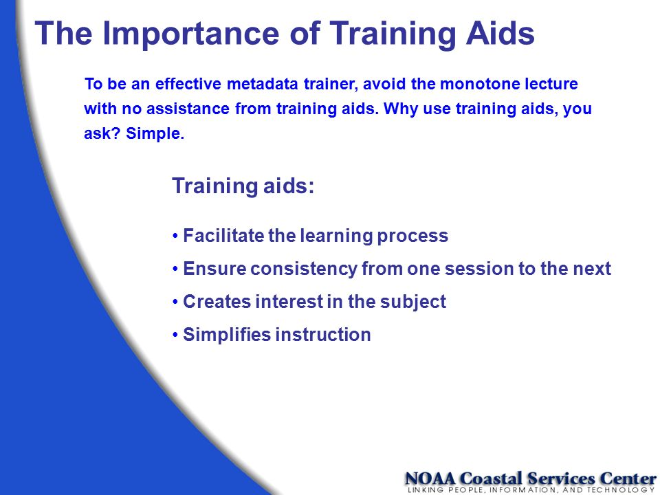 The Importance of Training Aids