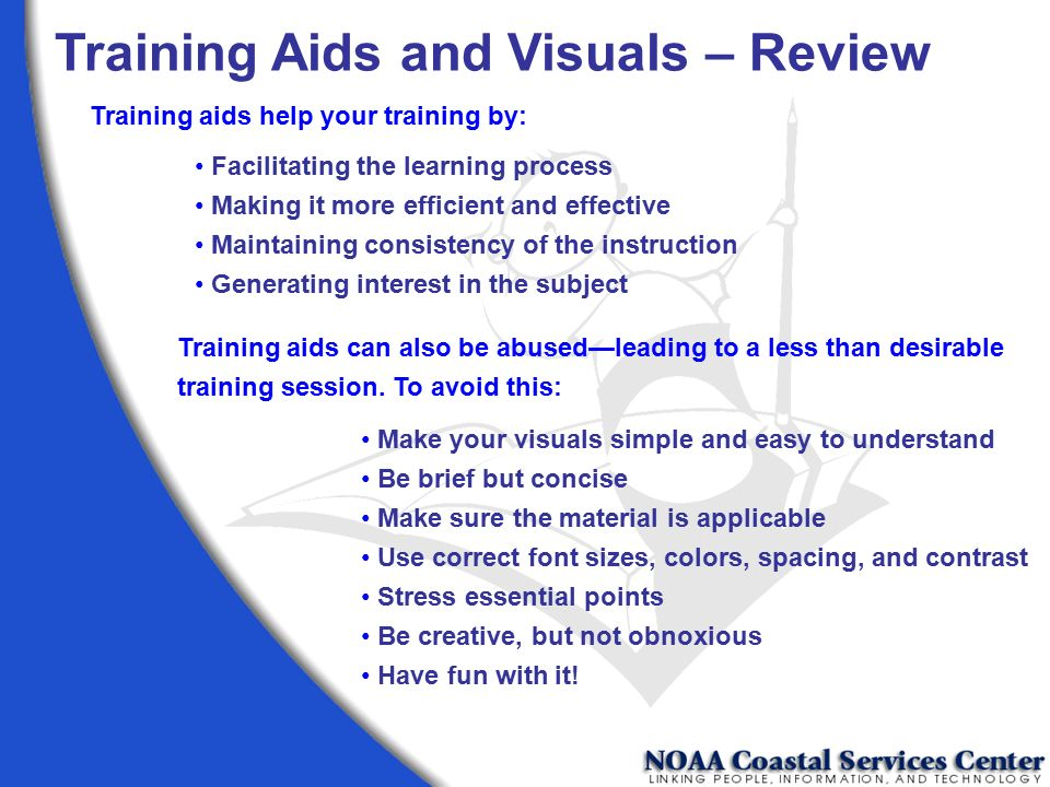Training Aids and Visuals – Review
