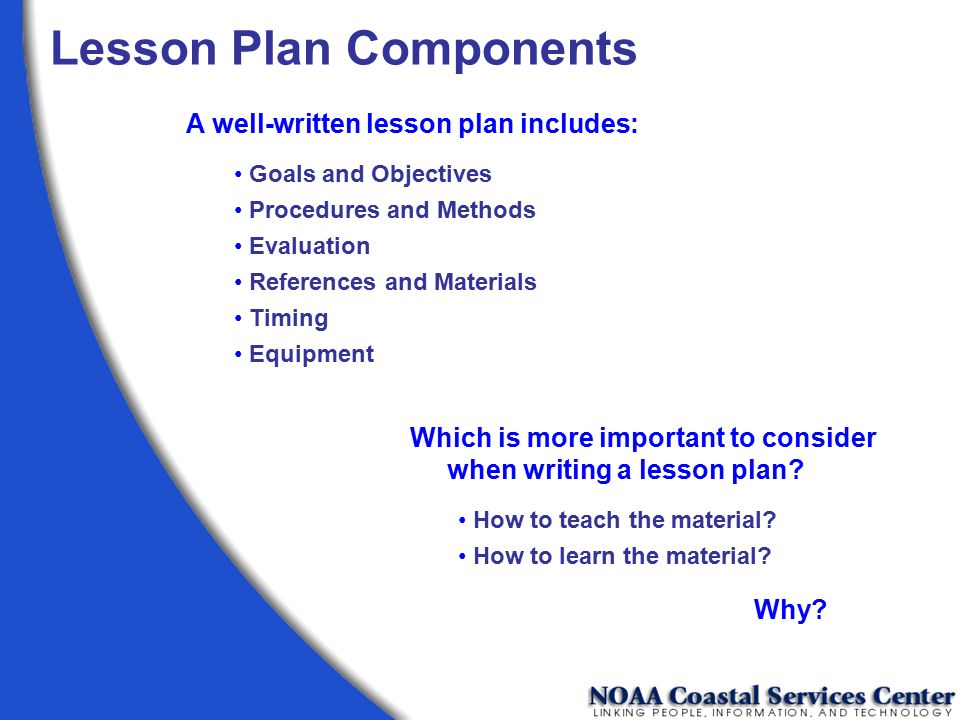 Lesson Plan Components