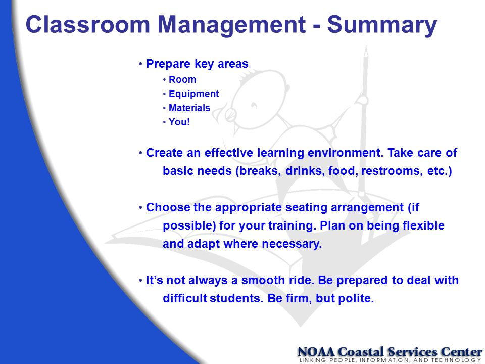 Classroom Management - Summary