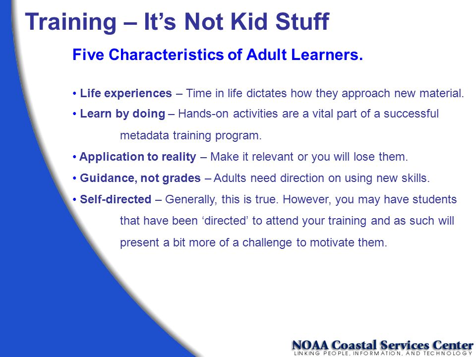 Training – It's Not Kid Stuff