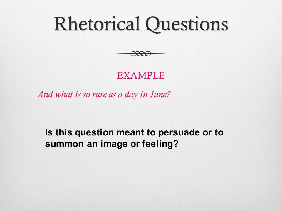 rhetorical sentence examples