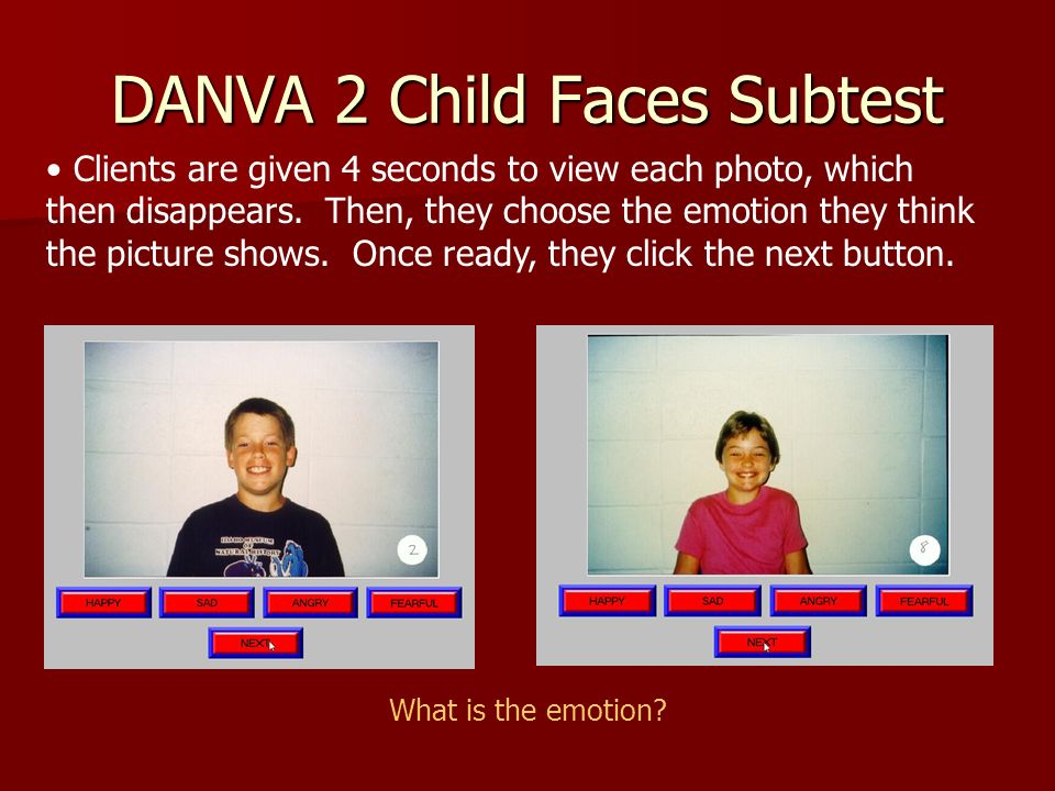 DANVA 2 Child Faces Subtest