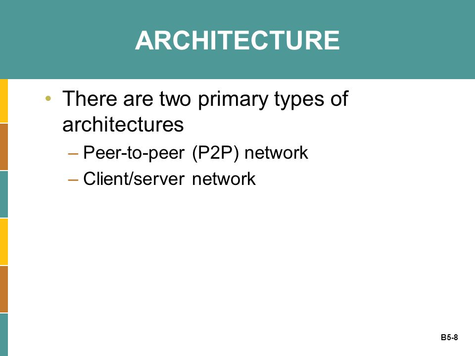 ARCHITECTURE There are two primary types of architectures