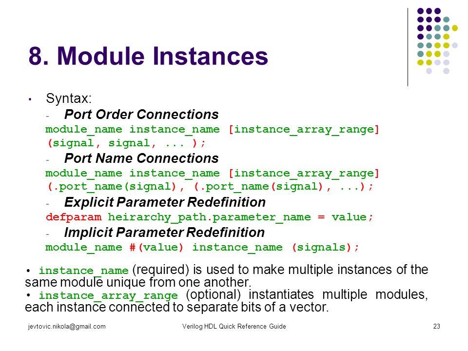 Verilog HDL Quick Reference Guide - ppt download