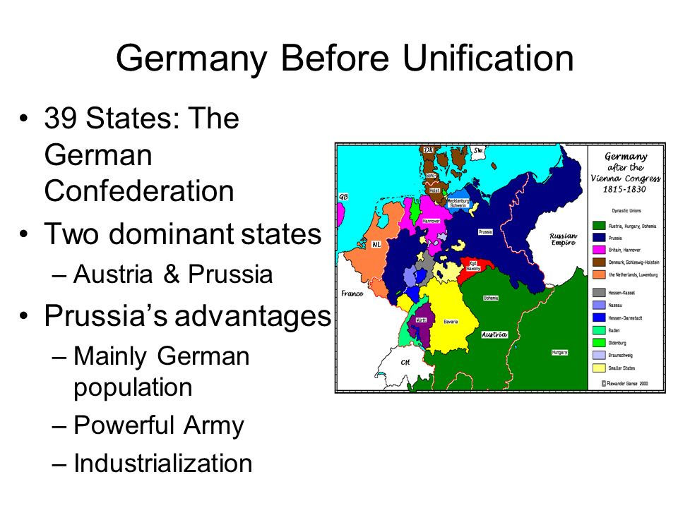 Map Of Germany Pre Unification.Unit 8 Unification Politics Of The 19th Century Ppt Video