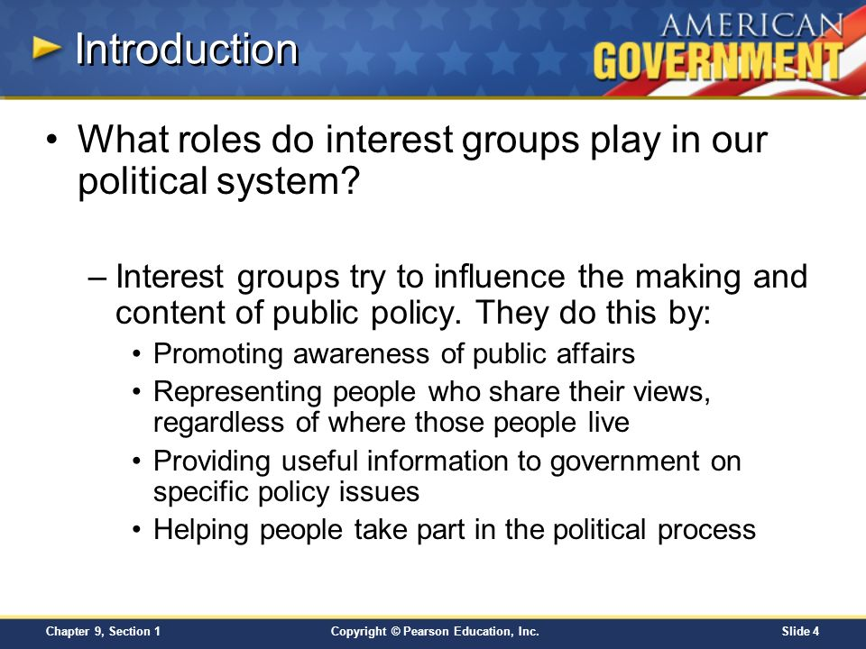 what roles do interest groups play in our political system