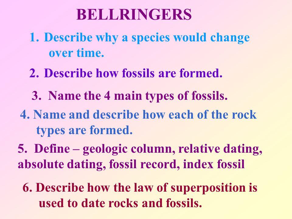 Dating of species
