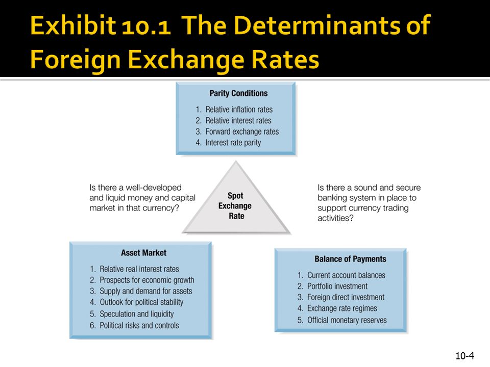 4 Exhibit 10 1 The Determinants Of Foreign Exchange Rates